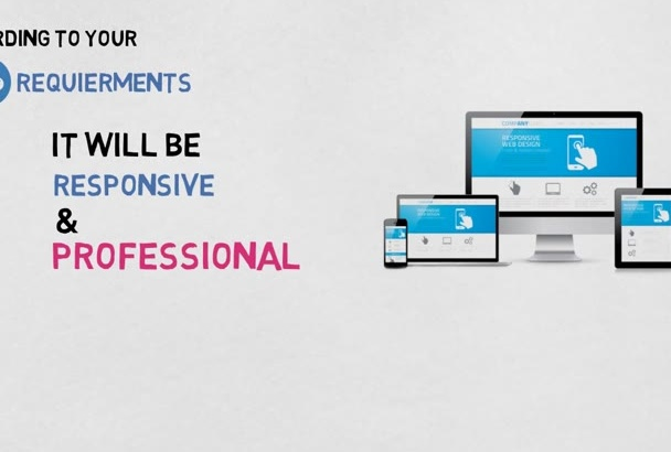 create responsive and professional website
