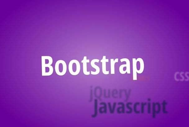 develop bootstrap responsive website design