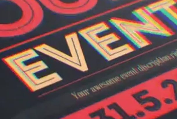 professionally design a flyer for your events