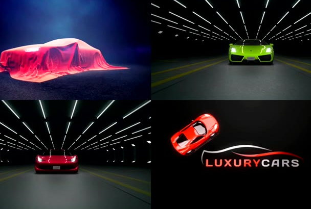 create 1 of 4 luxury CAR logo intro