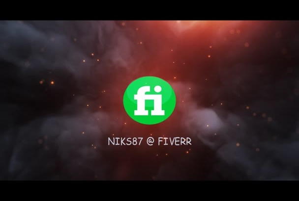 cool flame video logo intro