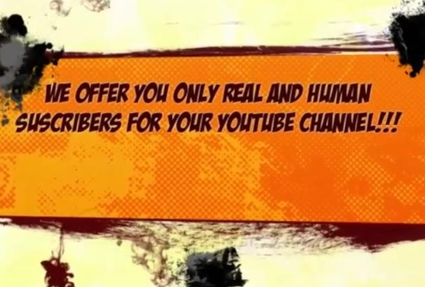 give You 110 Real Youtube Subscribers for Your Channel