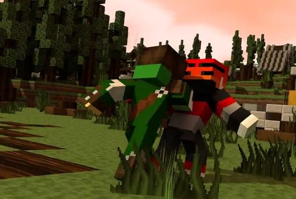 create an AMAZING 3D  Minecraft Intro