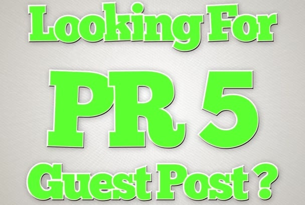 give you a guest post on a PR5 blog