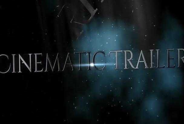 create Epic CINEMATIC trailer Effect Video