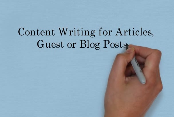 write an article for your business or profession