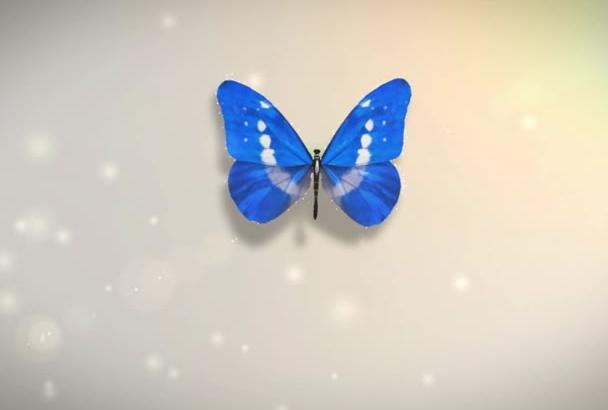 make 3d Butterfly Logo Animation Video