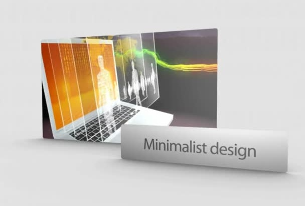 design a professional MINIMALISTIC 30sec Toprated commercial video