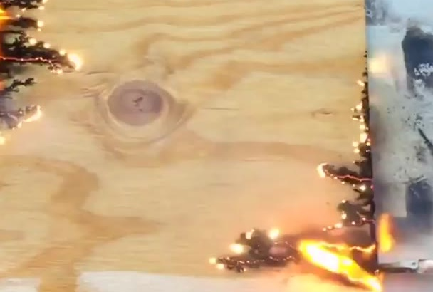 wood burning on plywood with Electricity