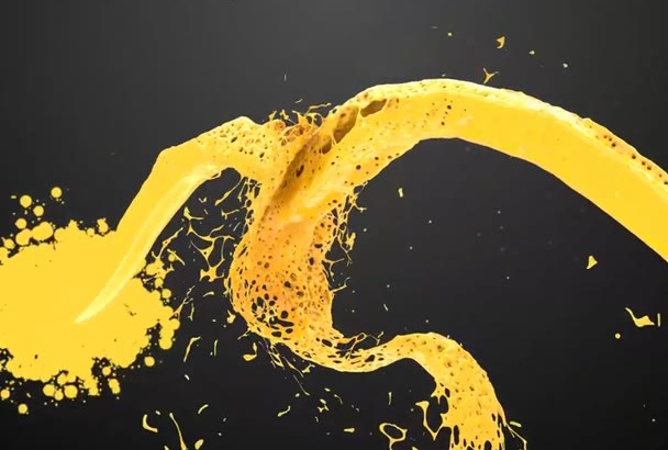 create a Paint Splash animated Logo Reveal Intro in Full HD