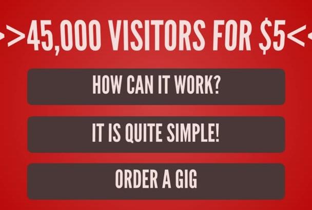 drive 45000 website visitors