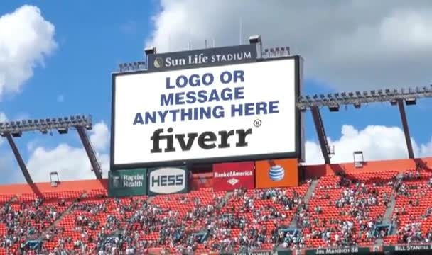 add anything to a NFL Jumbotron Video