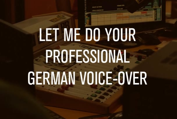 create a professional female German voiceover