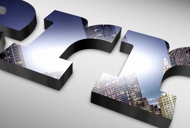 create Elegant 3D Glossy Reflection Logo Intro
