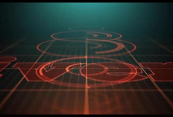 create high tech classic logo animation