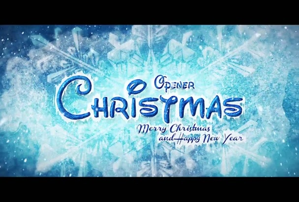 create an awesome merry christmas video intro opener