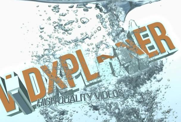 do water splash 3D intro with free aqua music