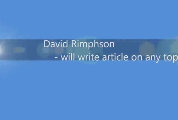 write an article on technical topic