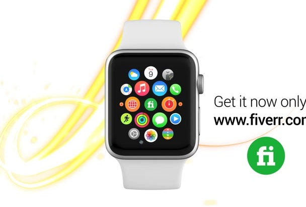 do Beautiful SMARTWATCH promo Video for your mobile app