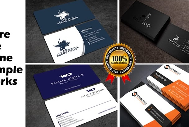 design outstanding business card in 12 hours
