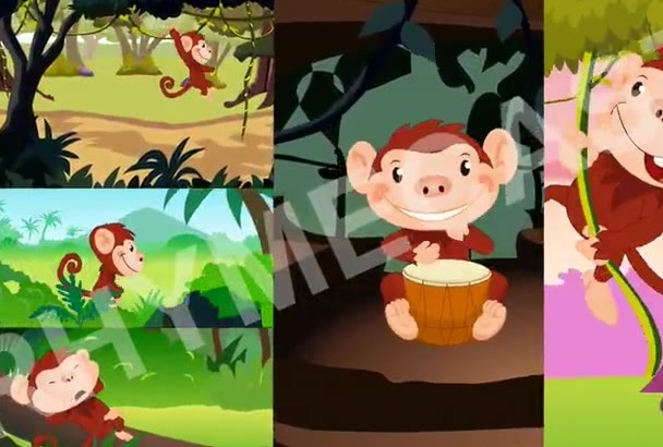 make the best 2d kids animated rhymes