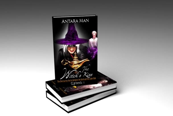 render 3d book cover mock up of your Book cover