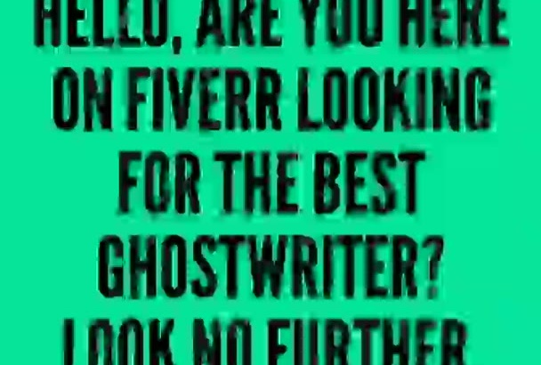 ghostwrite and Edit your Book, Kindle eBook and Self Guide eBook