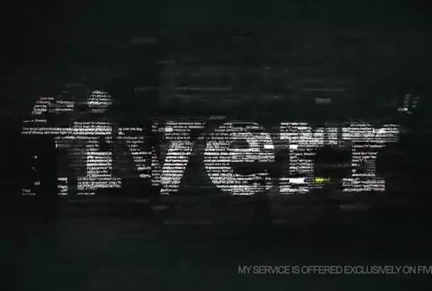 make Professional Hacker Style Logo Video Intro in 4K