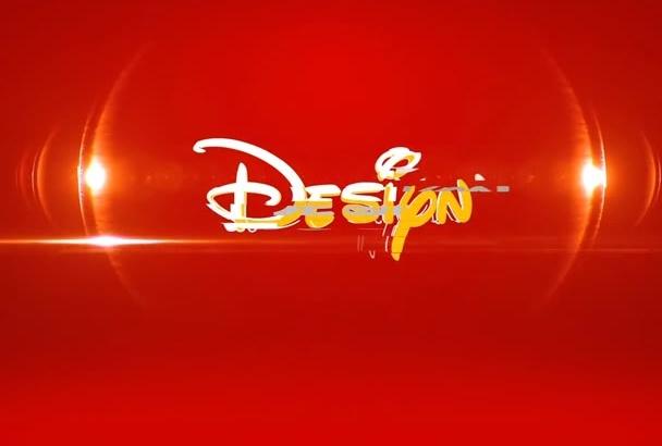 create 3 intro logo animation video