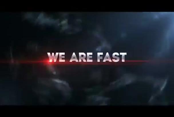 do cinematic blockbuster glitchy trailer