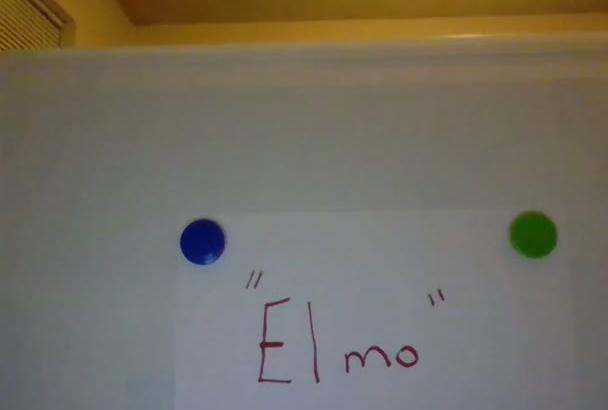 record a message as Elmo