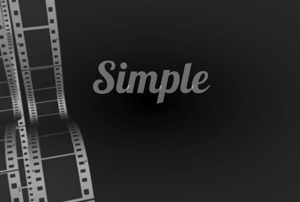 make kinetic typography video