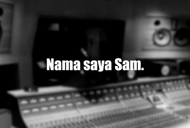 create a studio professional MALAY or English voiceover
