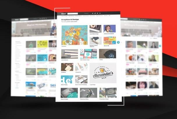 design WEBSITE Presentation video