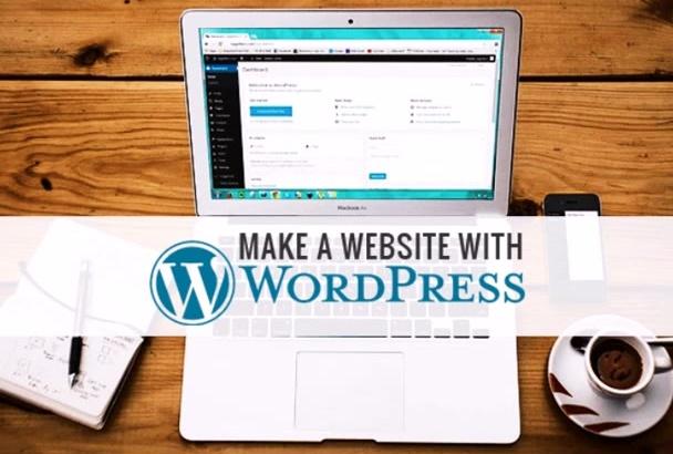 make your website in wordpress