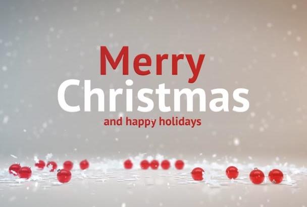 do amazing CHRISTMAS video intro