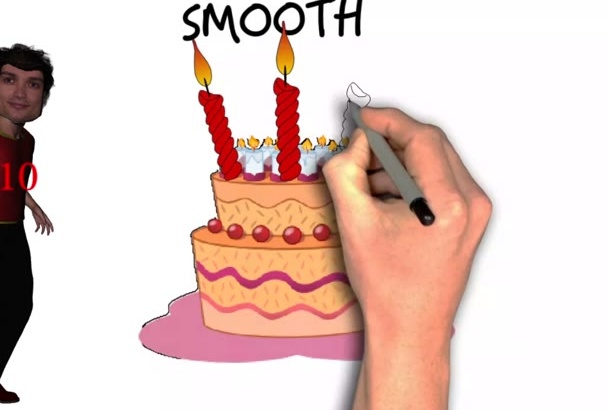 sing Pop Rock Happy Birthday song with Animation