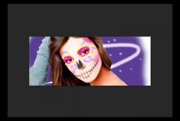 customize your face for Halloween