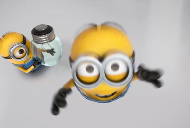make CRAZY funny despicable me minion video logo