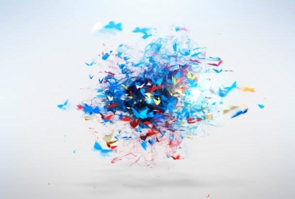 create beautiful colorful logo reveal