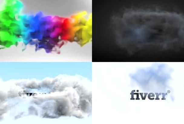 create 3 amazing SMOKING intro video animations