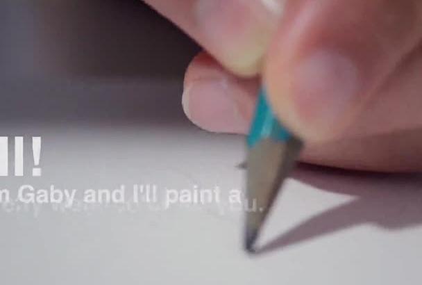 do a watercolor cartoon for you