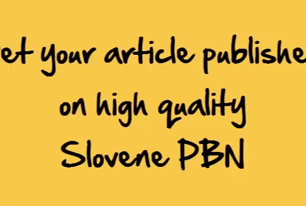 publish your article to my Slovenian PBN