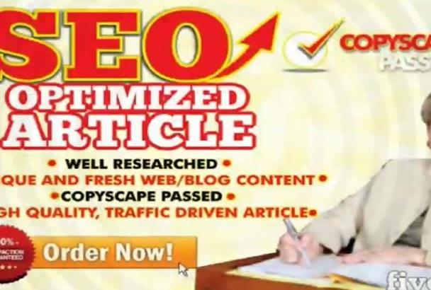 do SEO Article Writing