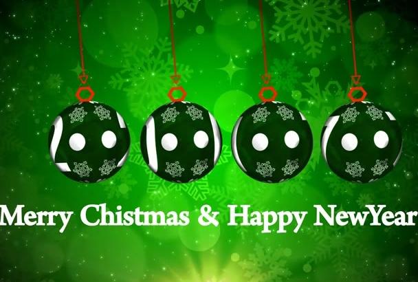 create an Amazing Christmas n New Year Logo reveal HD Video