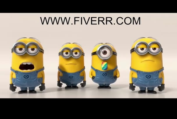 add your business logo and message in a minion video