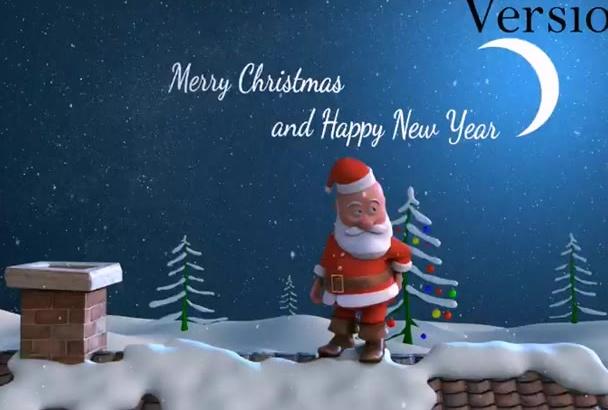 make This Santa Claus VIDEO Greetings For Christmas