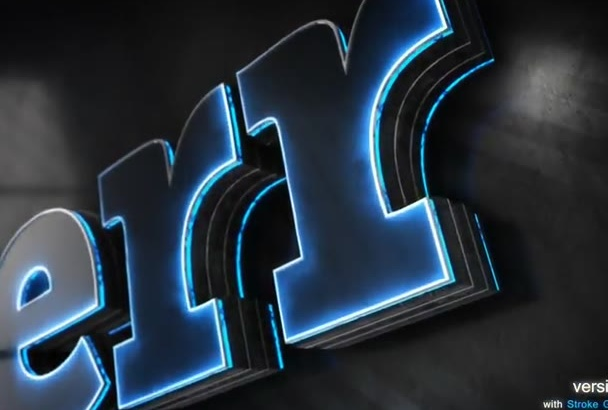 create 3D METALLIC Glow Cinematic Epic Logo Reveal Intro