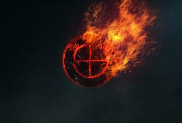 make a Burning Logo Intro