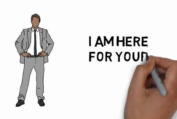 create explainer whiteboard animation video